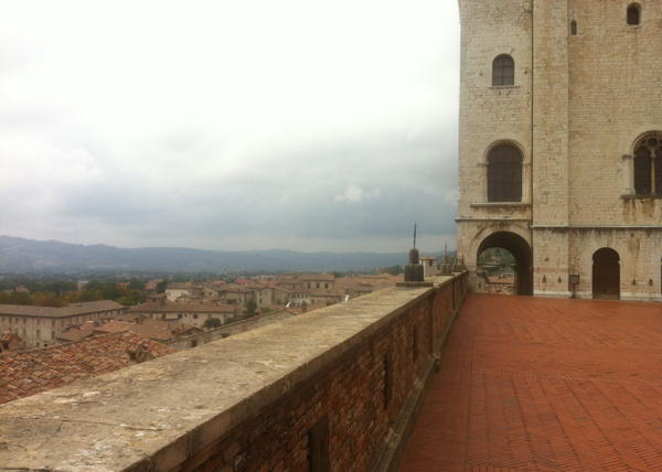the town of Gubbio in the region of Umbria, Italy